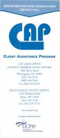 Client Assistance Program Brochure